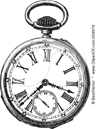 337x450 Pocket Watch Clipart