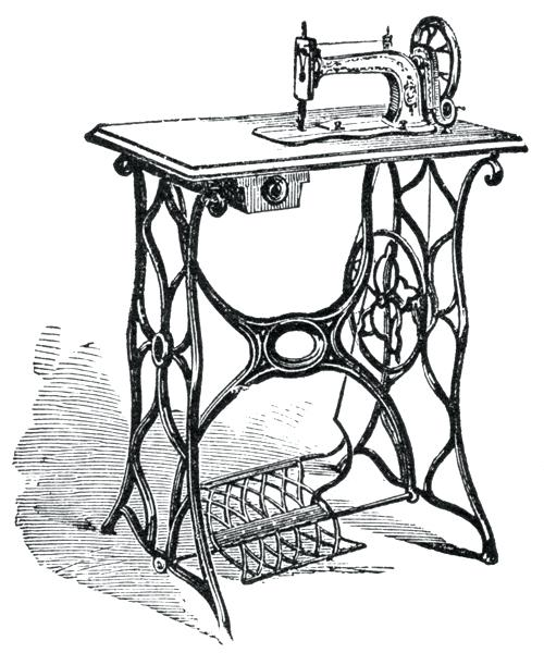500x600 Sewing Machine Clipart A Vintage Manual Sewing Machine Antique
