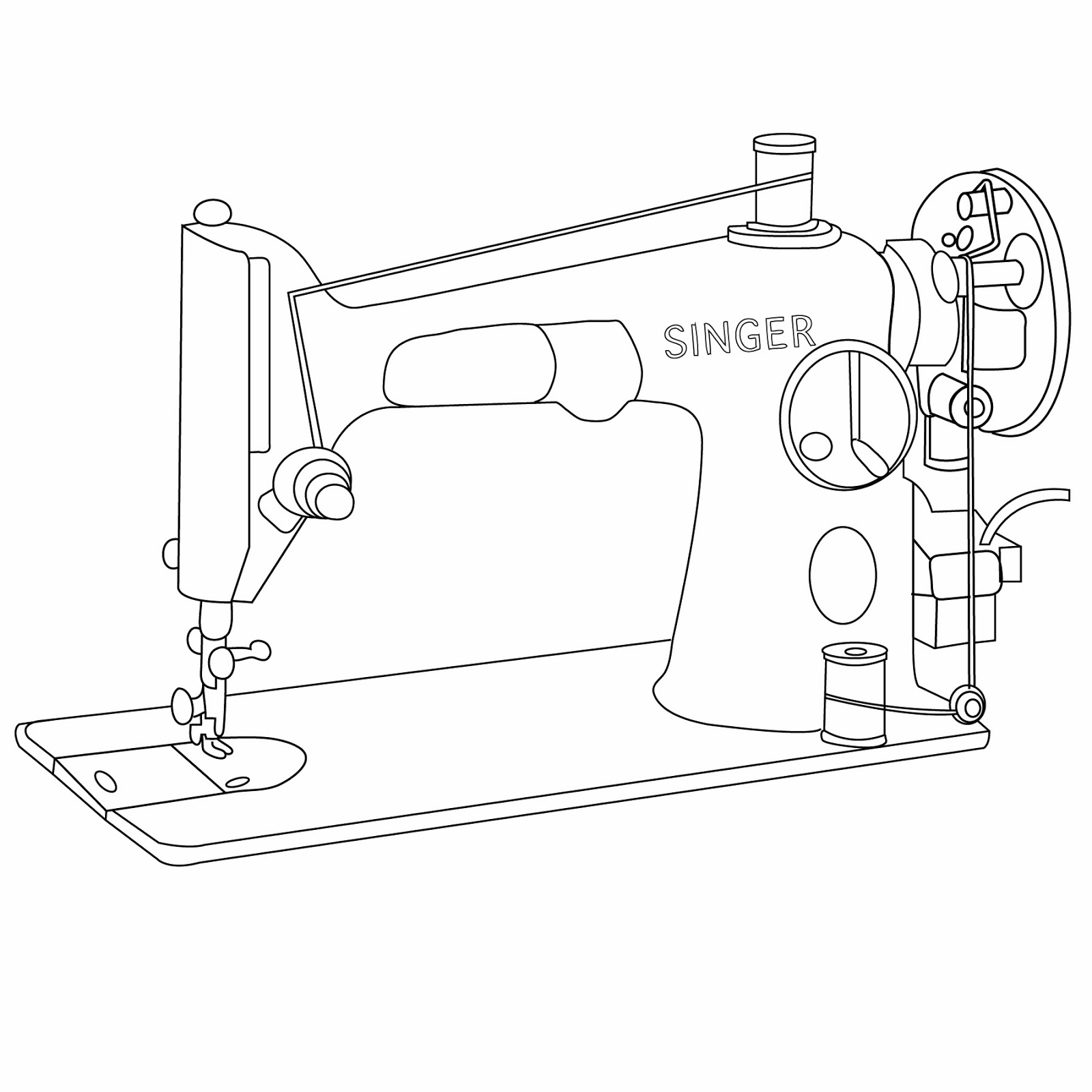 Vintage Sewing Machine Drawing At Free For Singer Diagram 1600x1600 Wwwimgarcade Online Image