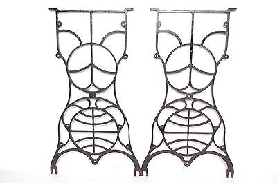 400x265 Antique Cast Iron Sewing Machine Table Legs Base Vintage