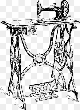 260x360 Vintage Sewing Machine, Retro, Sewing Machine, Tailor Png