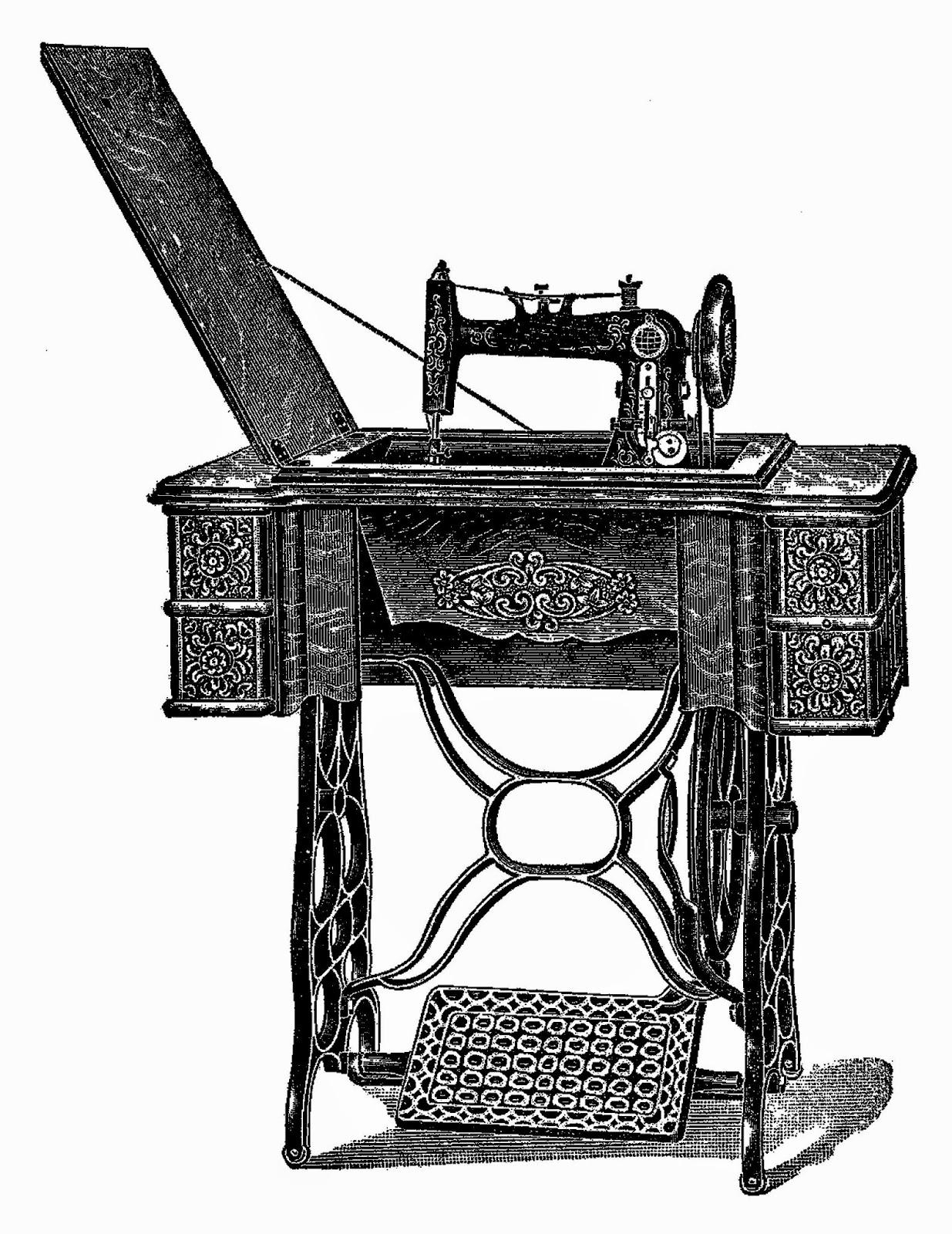 1235x1600 Antique Images Vintage Sewing Machine Digital Download Image