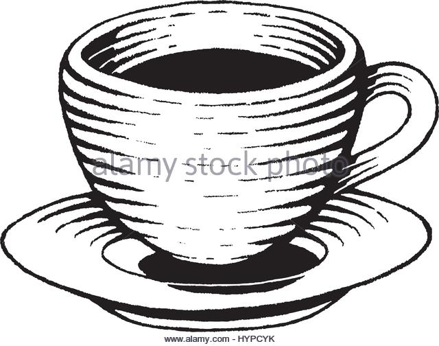 640x504 Coffee Cup Line Drawing Vector Stock Photos Amp Coffee Cup Line