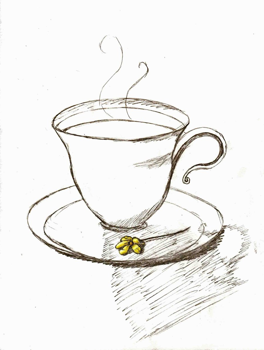 900x1193 Drawing Of A Teacup Drawn Teacup Vintage Teacup