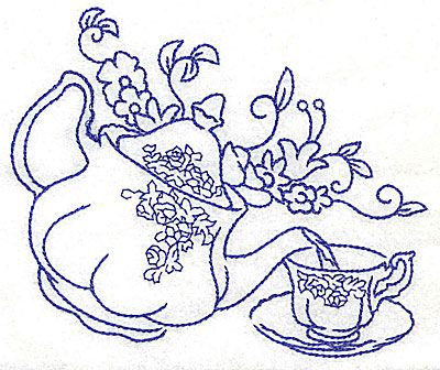 400x336 Drawn Teacup Teapot