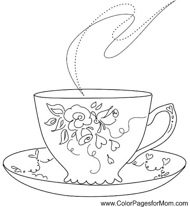 640x698 Coffee Coloring Page 35 Adult Coloring Gifts