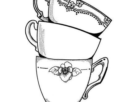 440x330 55 Tea Cup Sketch, Tea Party How To Draw A Teacup And Paint