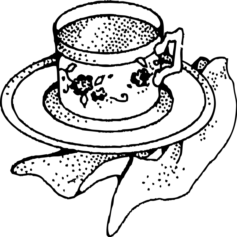 797x800 Black Tea Cup Clipart