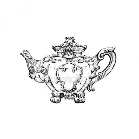 450x450 Gargoyle Chimera Of Notre Dame De Paris, Engraved, Hand Drawn