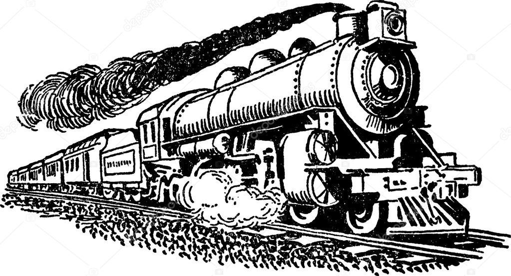 Vintage Train Drawing at GetDrawings | Free download