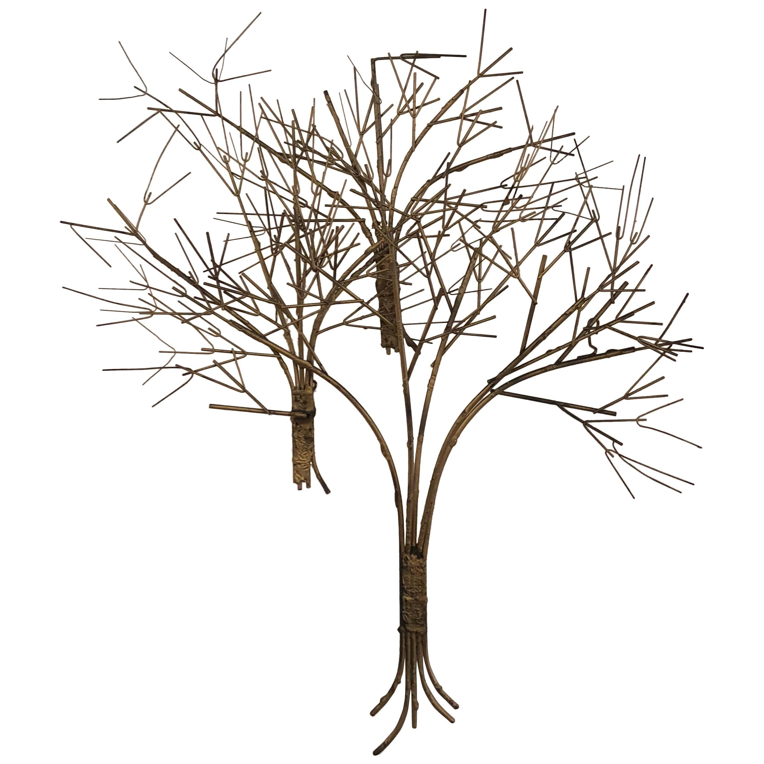 2535x2535 Vintage Metal Tree Wall Art Sculpture Mid Century Modern For Sale