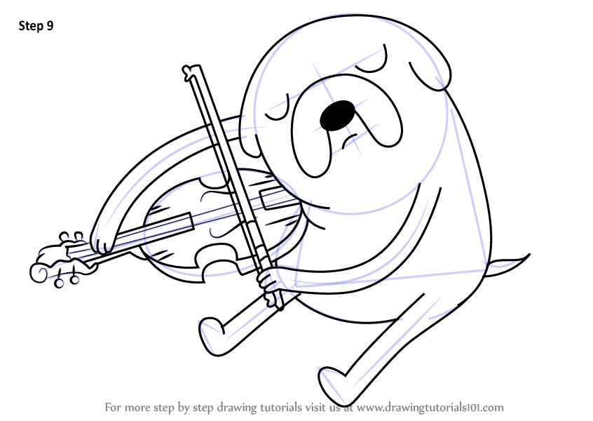 846x600 Learn How To Draw Jake Playing Viola From Adventure Time
