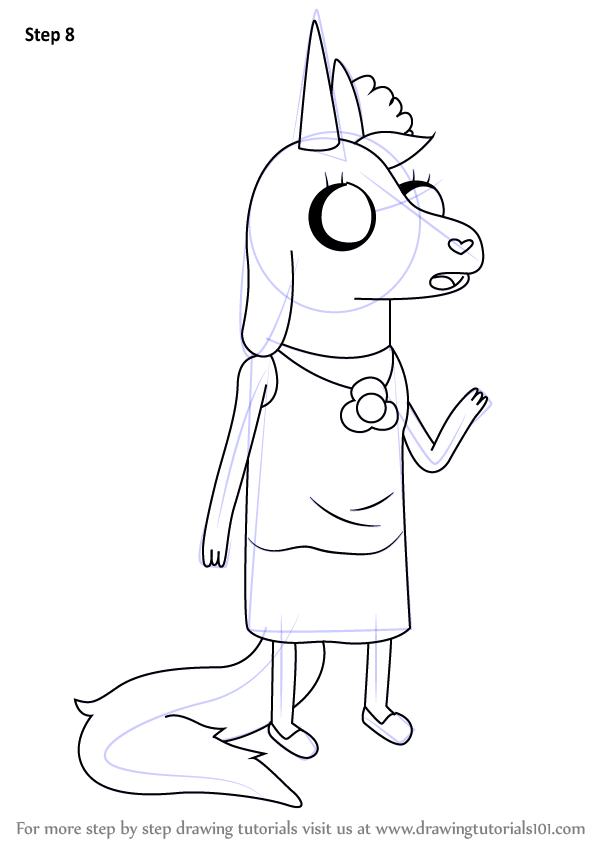 598x844 Learn How To Draw Viola From Adventure Time (Adventure Time) Step