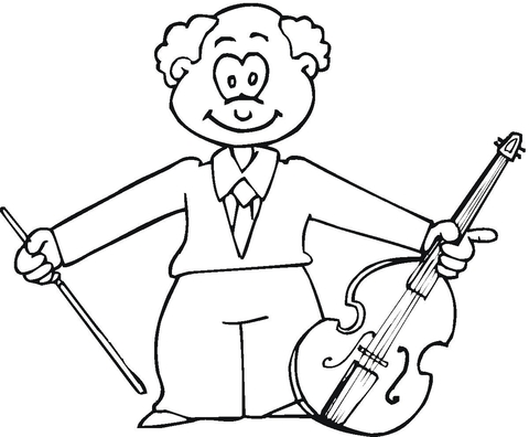 480x396 Musician With Viola Coloring Page Free Printable Coloring Pages