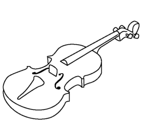 290x277 Viola Viola And Bow Coloring Page. Viola. Viola Coloring Page