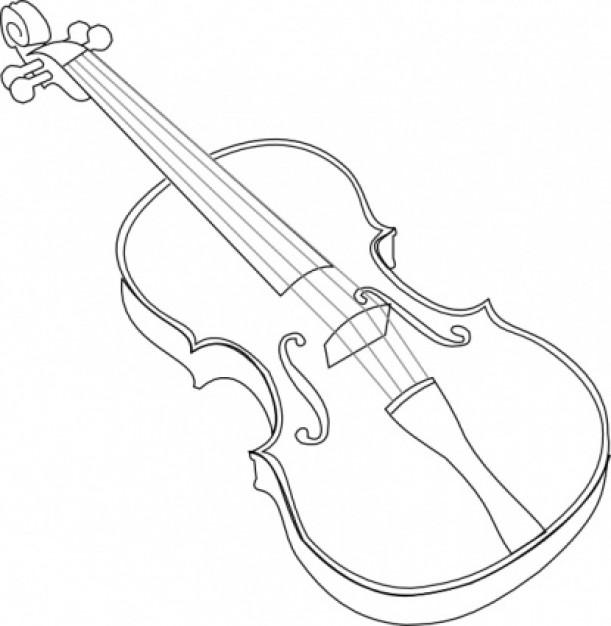 611x626 Vintage Violin Drawing