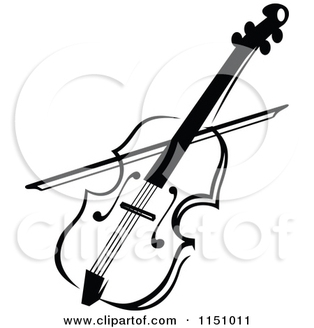 450x470 Clipart Of A Black And White Viola Or Fiddle Violin