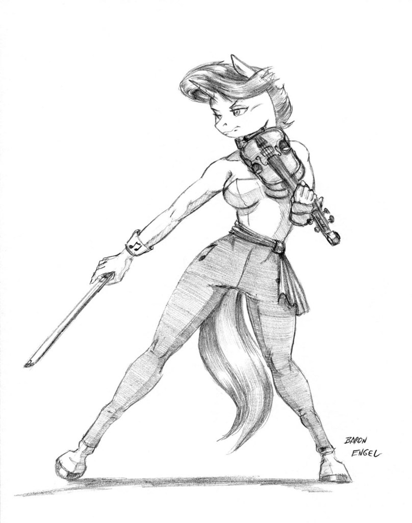 Violin Bow Drawing