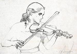 300x212 Violin Drawings Fine Art America