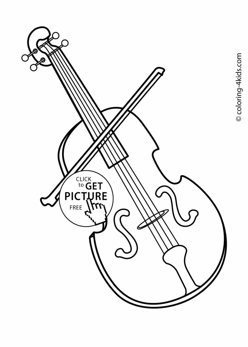 1024x1436 Coloring Page For Violin Kids Drawing And Coloring Pages