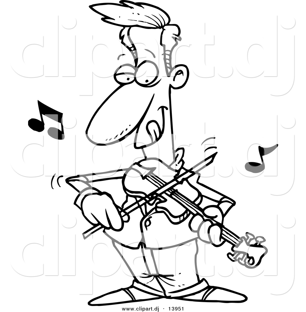 Violin Cartoon Drawing at GetDrawings.com | Free for personal use ... for violin cartoon black and white  61obs