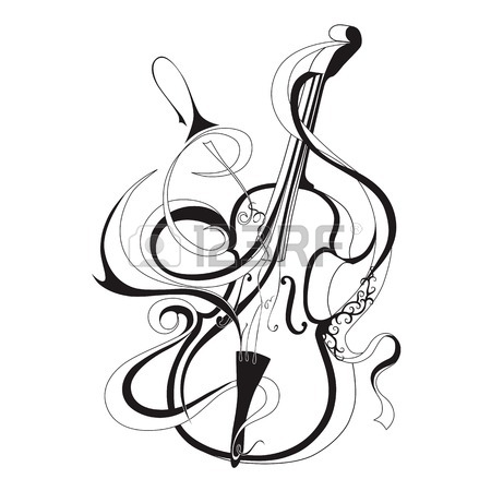 Violin Drawing Clip Art