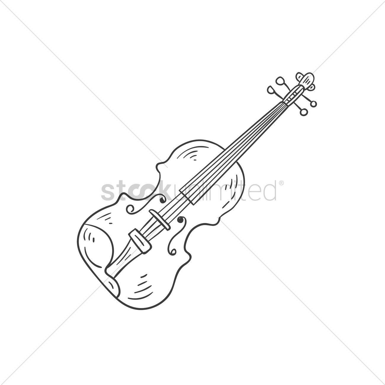 1300x1300 Violin Vector Image