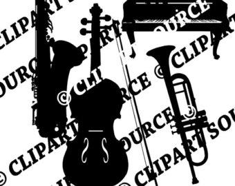 340x270 Violin Clip Art Etsy