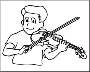 304x244 Clip Art Boy Playing Violin Bampw I Abcteach