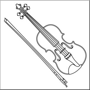 304x304 Clip Art Violin Bampw I Abcteach