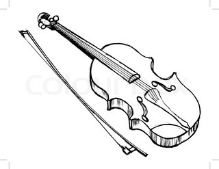 320x247 Vector Illustration Of Violin, Musical Instrument Stock Vector
