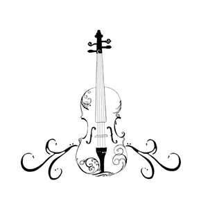 violin line drawing at getdrawings com free for personal use