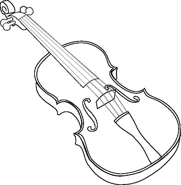 582x596 Violin Clip Art
