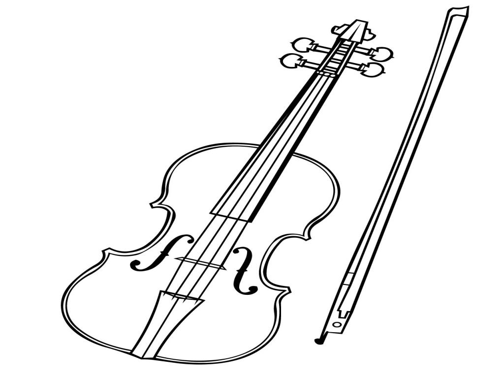 1024x768 Violin Coloring Page Handipoints