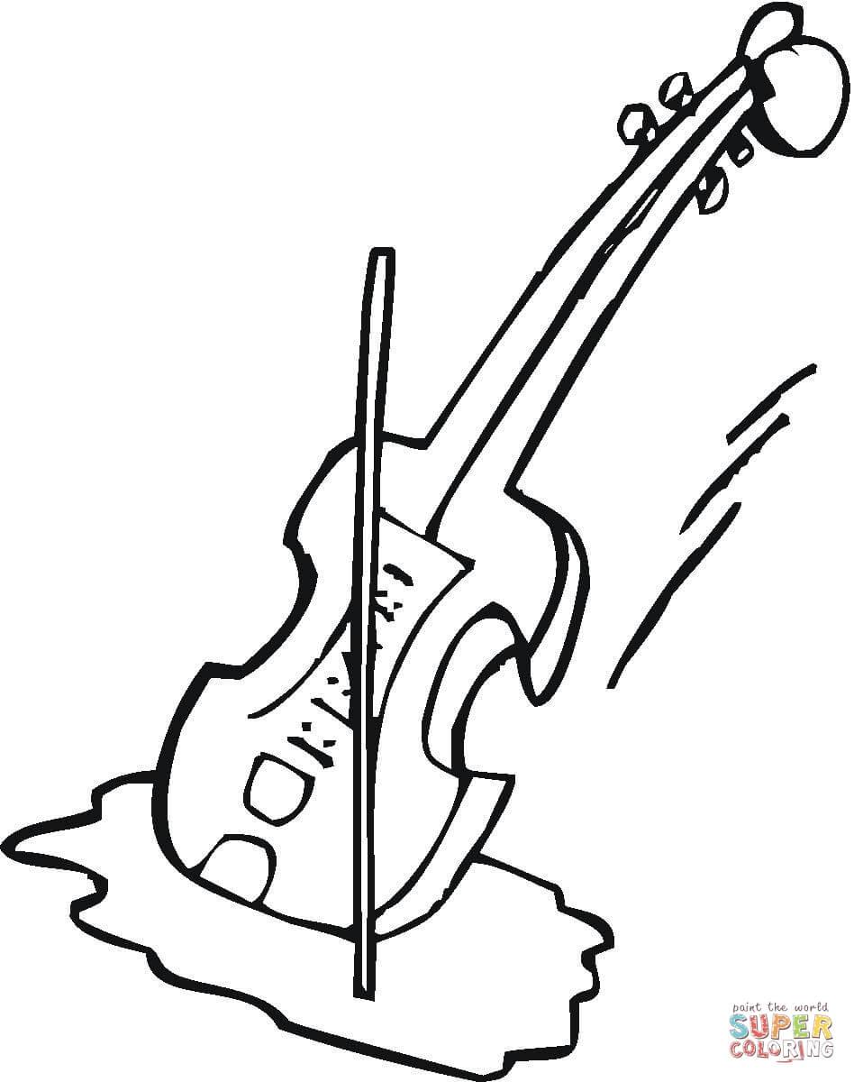 948x1200 Violin Coloring Pages Paginone.biz
