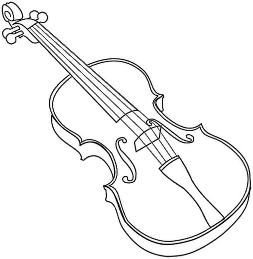 508x520 Violin Outline Bold Musicampinstruments Outlines