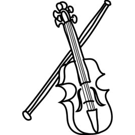268x268 Coloring Page Violin Kids Drawing And Pages