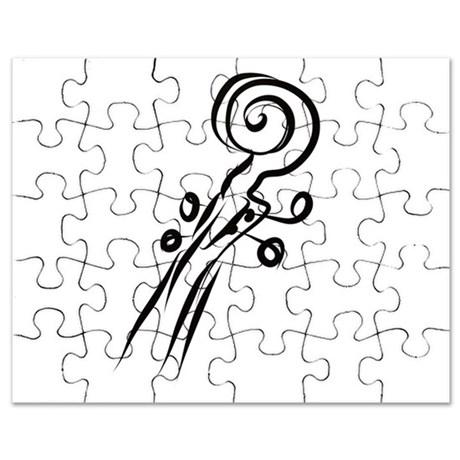 460x460 Violin Scroll Puzzles, Violin Scroll Jigsaw Puzzle Templates