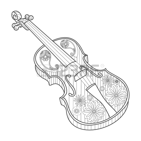 Violinist Drawing