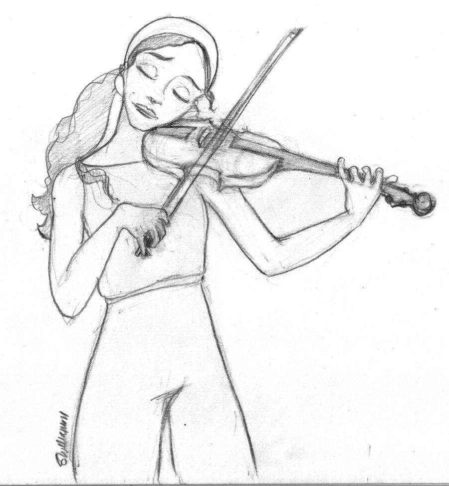 900x974 How To Hold A Violin. Draw A Cello In Half Minute. Drawing Violins