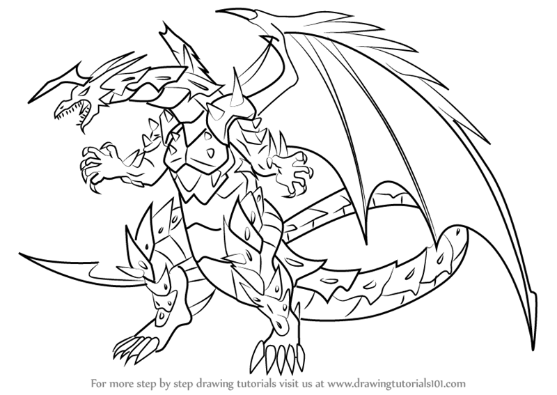 800x567 Learn How To Draw Viper Helios From Bakugan Battle Brawlers