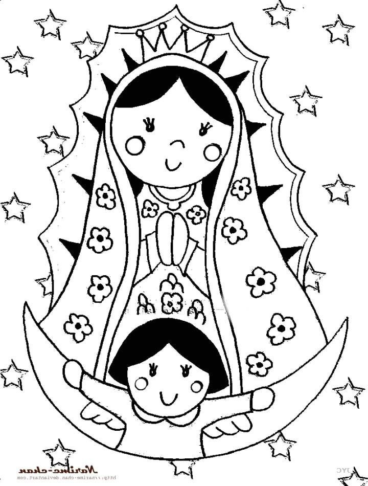 Virgen de guadalupe drawing at free for for Virgen de guadalupe coloring pages