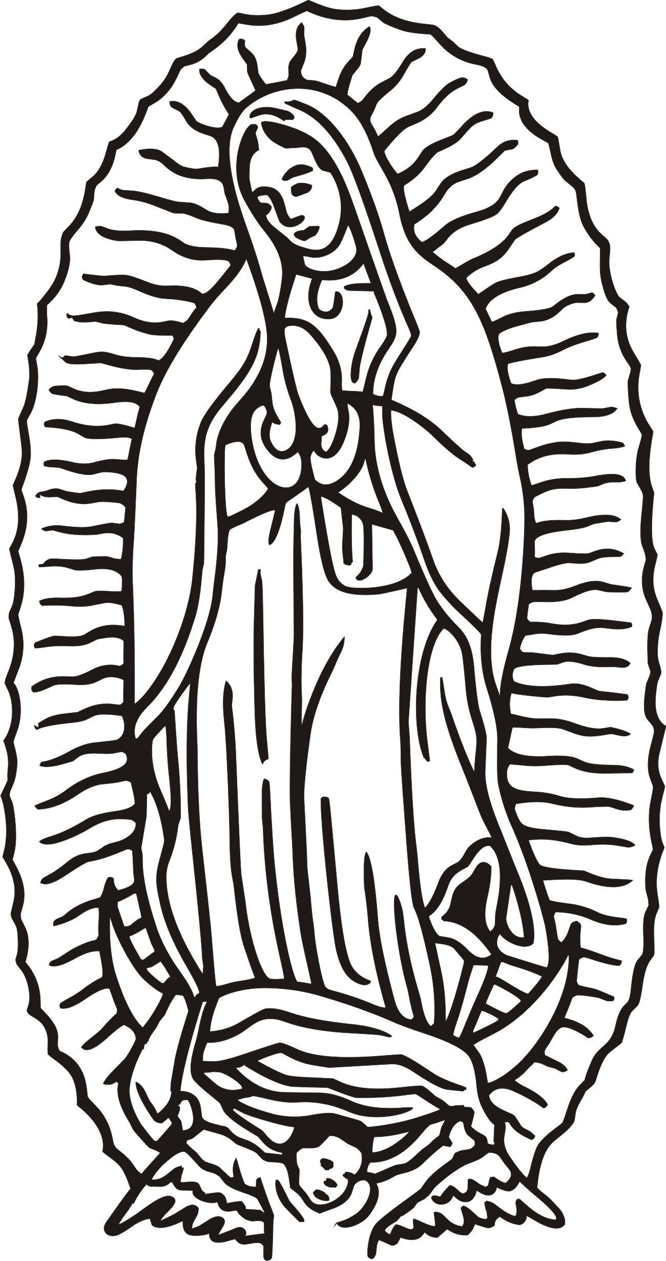 Virgen De Guadalupe Drawing At Getdrawingscom Free For Personal