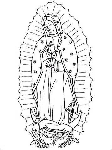 358x480 virgen de los angeles colouring pages ccd ideas pinterest
