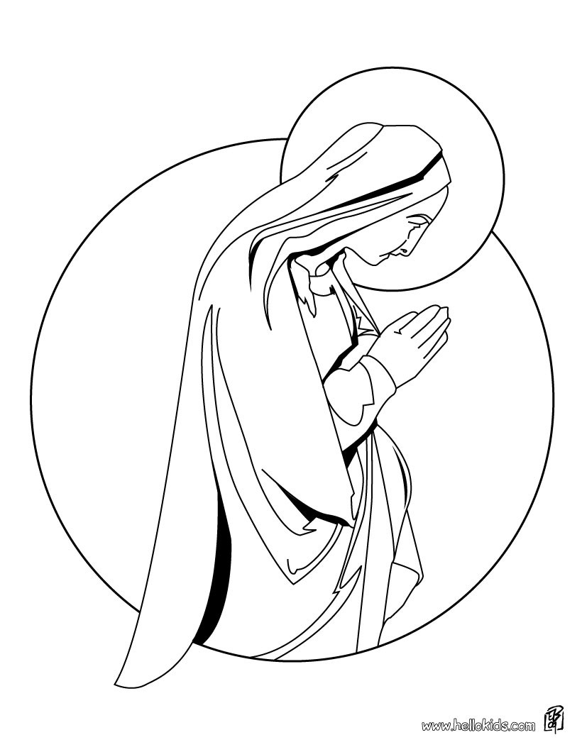 820x1060 Virgin Mary Coloring Pages