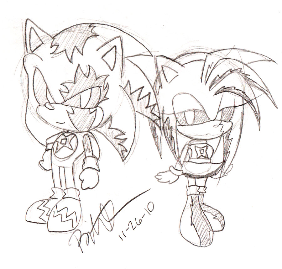 900x858 Virus Sonic And Amy Chibi By Ninjahaku21
