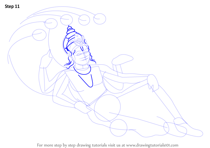 846x598 Learn How To Draw Lord Vishnu (Hinduism) Step By Step Drawing