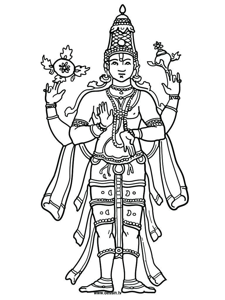 768x1024 Coloring Vishnu Adult Coloring Adult Coloring