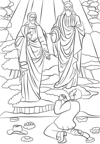 333x480 Joseph Smith First Vision Coloring Page Free Printable Coloring