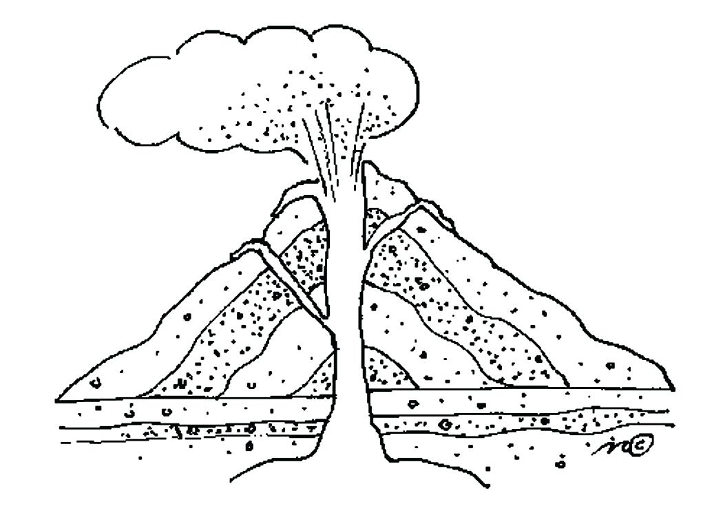 Volcano drawing at getdrawings free for personal use volcano 1050x764 diagram parts of a volcano diagram worksheets figure volcanoes ccuart Image collections